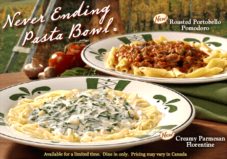 Review And Giveaway Olive Garden Never Ending Pasta Bowl